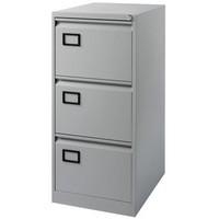 Jemini 3-Drawer Filing Cabinet Pearl Grey