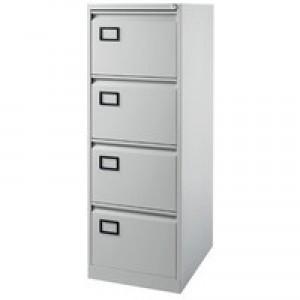 Jemini 4-Drawer Filing Cabinet Pearl Grey