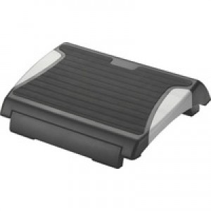 Q-Connect Foot Rest With Rubber Black/Silver KF20076