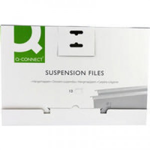 Q-Connect Suspension File Tabbed Foolscap Pack of 10 KF21018