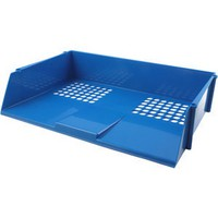 Q-Connect Wide Entry Letter Tray Blue