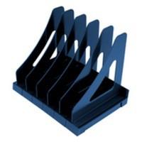 Q-Connect Executive Book Rack Metallic Blue