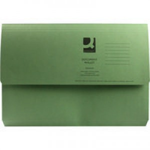 Q-Connect Document Wallet 285gsm Foolscap Green
