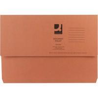 Q-Connect Document Wallet 285gsm Foolscap Orange