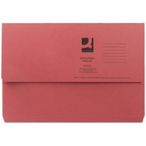 Q-Connect Document Wallet 285gsm Foolscap Red