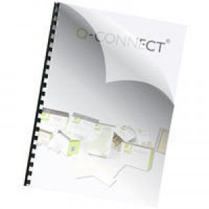Q-Connect Binding Comb Covers 150micron A4 Pack of 250 KF24010