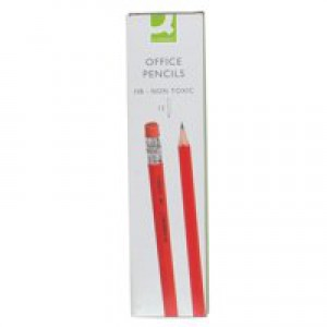 Q-Connect Pencil HB Eraser-Tipped
