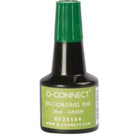 Q-Connect Endorsing Ink 28ml Green