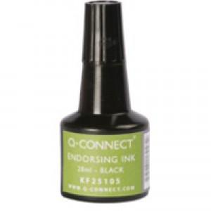 Q-Connect Endorsing Ink 28ml Black