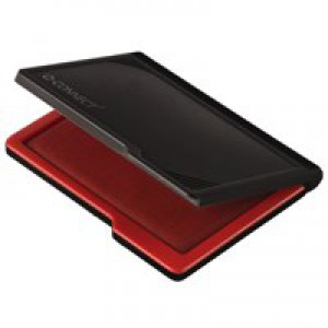 Q-Connect Medium Stamp Pad Metal Case Red KF25212