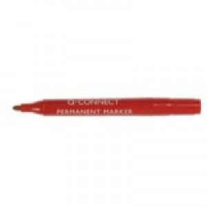 Q-Connect Permanent Marker Bullet Tip Red