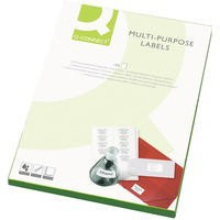 Q-Connect Multi-Purpose Label 199.6x289mm 1 per A4 Sheet Pack of 100 White