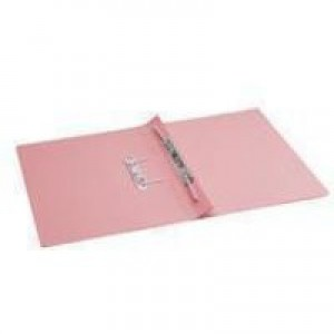 Q-Connect Transfer File Foolscap/A4 35mm Capacity Pink