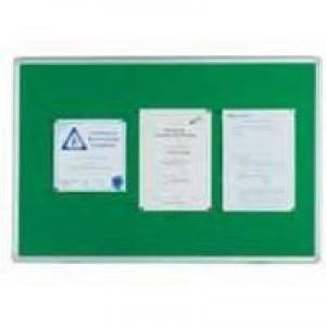 Q-Connect Notice Board 1200x900mm Aluminium Frame Green