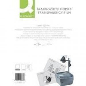 Q-Connect OHP PPC Film Paper-Backed Long Edge Pack of 100 KF26068