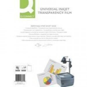 Q-Connect OHP Inkjet Film Universal Pack of 50 KF26074