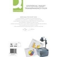 Q-Connect OHP Inkjet Film Universal Pk 50