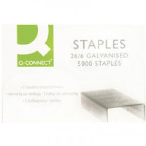 Q-Connect Staples 26/6 Pack of 5000 KF27001