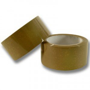 Q-Connect Packaging Tape Buff 50mm x66m KF27010