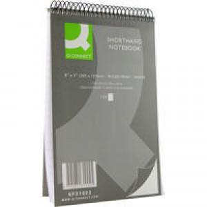 Q-Connect Shorthand Notebook 150 Leaf Ruled Feint 203x125mm