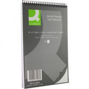 Q-Connect Shorthand Notebook 80 Leaf Ruled Feint 203x127mm