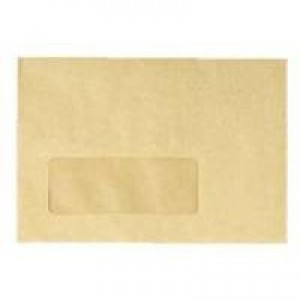 Q-Connect Envelope 89x152mm/3.5x6 inch 70gsm Centre Window Manilla Gummed Pack of 1000 KF3431