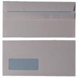 Q-Connect Envelope DL Low Window 80gsm White Self-Seal Pack of 1000 KF3455