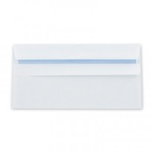 Q-Connect Envelope DL 90gsm White Self-Seal Pack of 1000 KF3480