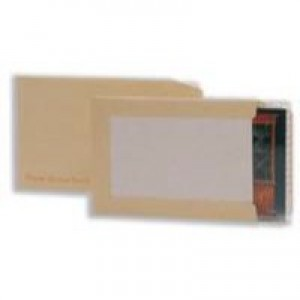 Q-Connect Board-Back Envelope 394x318mm 115gsm Manilla Peel and Seal Pack of 125 KF3522