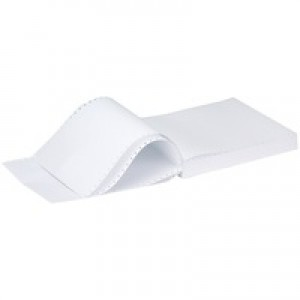 Q-Connect Listing Paper 11 inches x241mm 2-Part NCR Plain Pack of 1000 KF50032