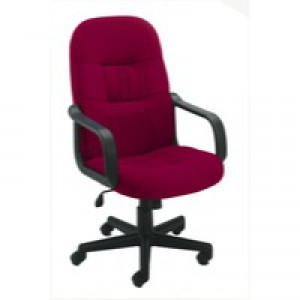 Jemini High Back Managers Chair Claret