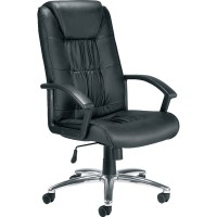 Image for Carina Leather Faced Executive High Back Chair Black