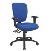 Cappela Square Back Posture Chair Blue