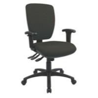 Cappela Square Back Posture Chair Black