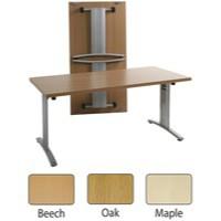 Arista Lightweight Folding Conference Table Rectangular 1200x800mm Beech
