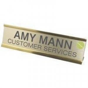 Q-Connect Custom Door/Desk Name Plate 250x50mm KF71442