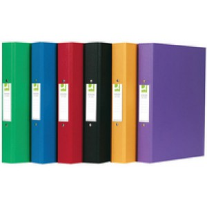 Q-Connect 2-Ring Binder A4 Polypropylene Assorted Pack of 10 KF02005
