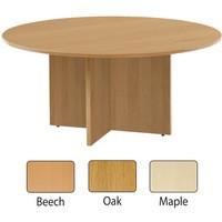 Jemini 1200mm Round Meeting Table Oak