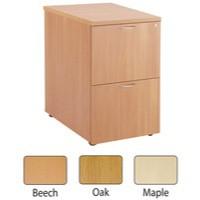 Jemini 2 Drawer Filing Cabinet Maple