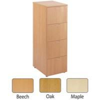 Jemini 4-Drawer Filing Cabinet Oak