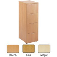 Jemini 4-Drawer Filing Cabinet Maple