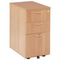 Jemini 3-Drawer Desk High Pedestal 600mm Beech Code