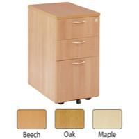 Jemini 3-Drawer Desk High Pedestal 600mm Oak