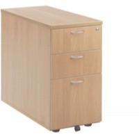 Jemini 3-Drawer Desk High Pedestal 800mm Beech