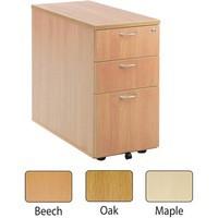 Jemini 3-Drawer Desk High Pedestal 800mm Oak