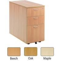 Jemini 3-Drawer Desk High Pedestal 800mm Maple