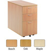 Jemini 3-Drawer Desk High Pedestal 800mm Maple Code