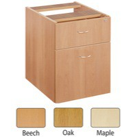 Jemini 2-Drawer Fixed Pedestal Maple