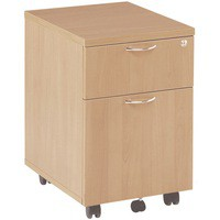 Jemini 2-Drawer Mobile Pedestal Beech