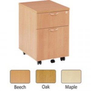 Jemini 2-Drawer Mobile Pedestal Maple KF72083